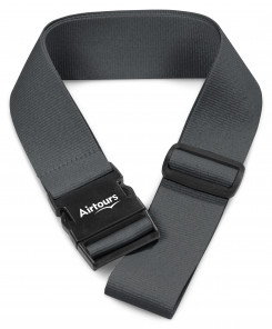 Pearson Luggage Strap - Charcoal - Charcoal Only