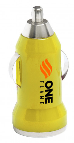 Moto Usb Car Charger - Yellow - Yellow Only