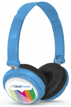 Omega Wired Headphones - Light Blue Only