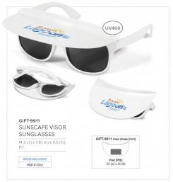 Sunscape Visor Sunglasses - GIFT-9911