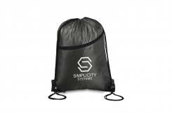 Double-up Drawstring Bag - Black Only