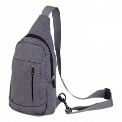 IN0001 - Melange Shoulder Bag With Front Pocket