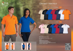 Ladies Contrast Trim Pique Knit Polo - While stocks last