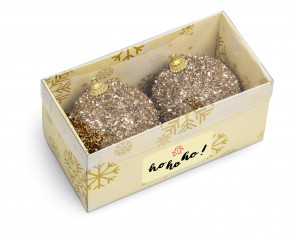 Glam Glitter Festive Ball Duo - Gold Only