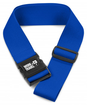 Pearson Luggage Strap - Blue - Blue Only