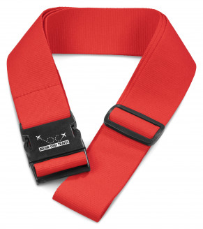 Pearson Luggage Strap - Red - Red Only