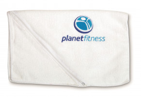 Oblique Sports Towel - Solid White Only