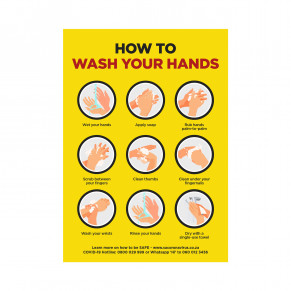 Jupiter A2 Hand Wash Poster - Set of 3