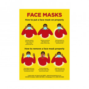 Jupiter A2 Face Masks Poster - Set of 3