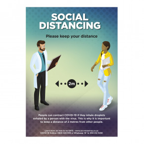 Saturn A1 Social Distance Poster - Set of 3