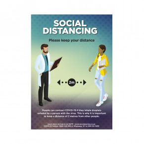 Saturn A2 Social Distance Poster - Set of 3