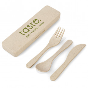 Okiyo Heiki Wheat Straw Cutlery Set