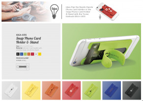 Snap Card Wallet And Phone Stand - Yellow Only - IDEA-0315