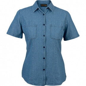 Ladies Denim Blouse Short Sleeve (LL-DEN)