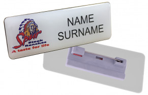 Name Badge Pin Clip - STD Size (70mm x 30mm)