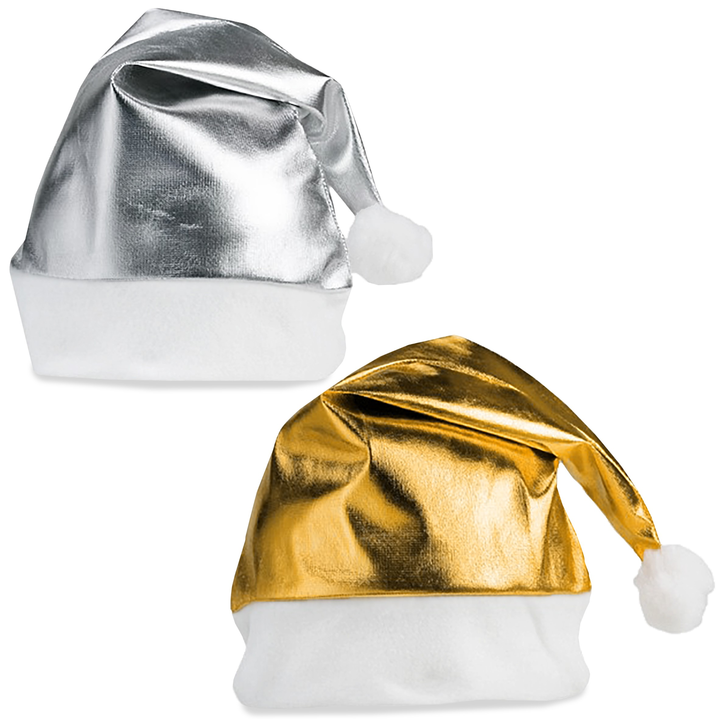 Metallic Festive Hat - Silver Only - GIFT-17381