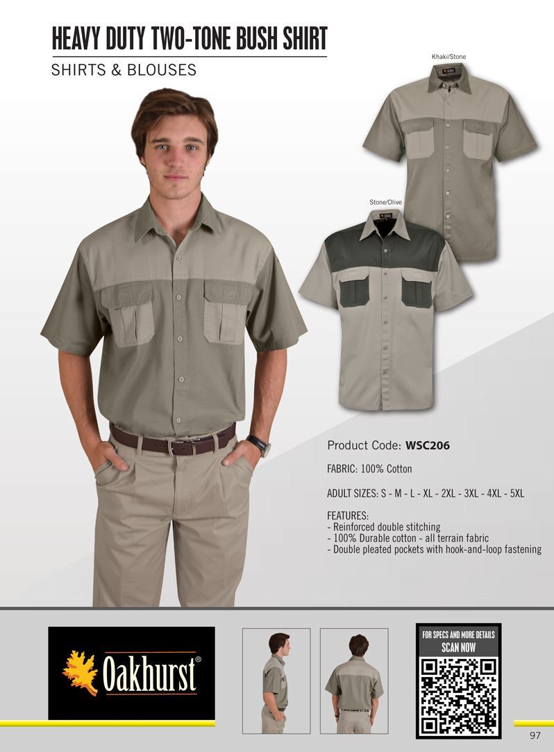 Heavy Duty Two-tone Bush Shirt