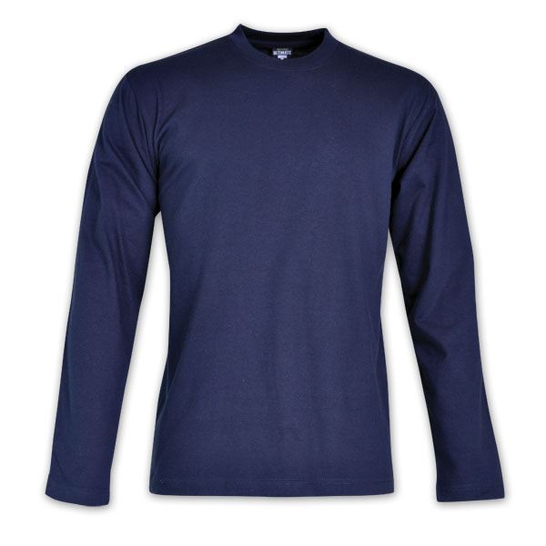 170g Combed Cotton L/Sleeve T-shirt - While stocks last