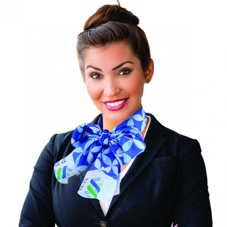 Corporate scarf with sublimation