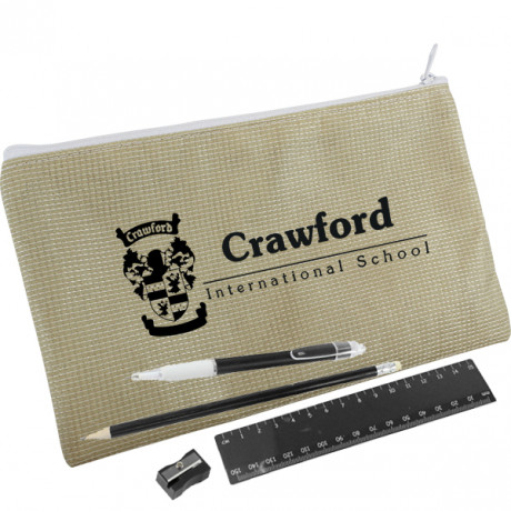 Recycled PET Stationery Set with 1 col print