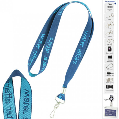 Rough Woven Lanyard with 1 col print