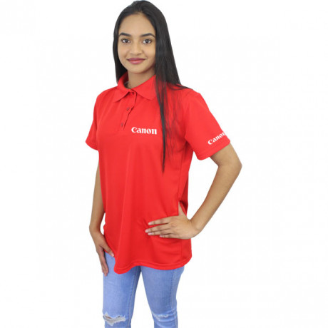 Ladies Polyester Greenwhich golfshirt with 1 col L