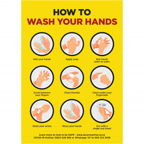 Jupiter A0 Hand Wash Poster - Per Unit