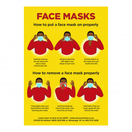 Jupiter A1 Face Masks Poster - Set of 3