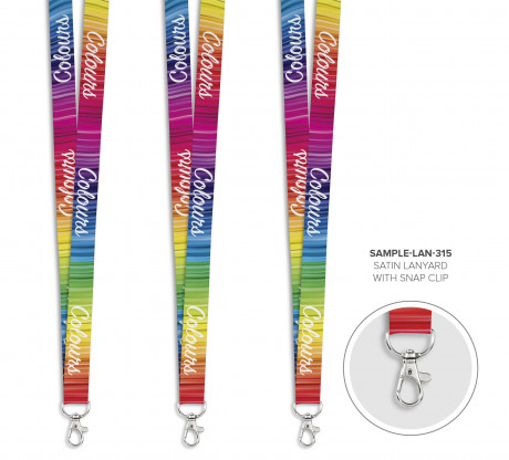 Satin Lanyard With Snap Clip - Sample