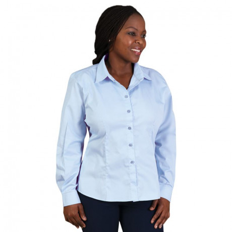 Ladies Classic Woven Shirt Long Sleeve
