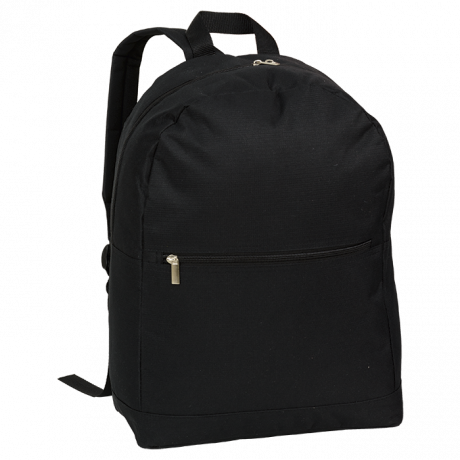 BB0211 - Arch Design Backpack With Zippered Front Pocket