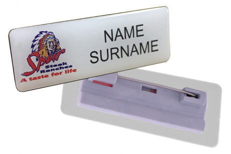 Name Badge Pin Clip - STD Size (60mm x 20mm)