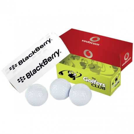 Golf Balls - Pack of 3 with full colour